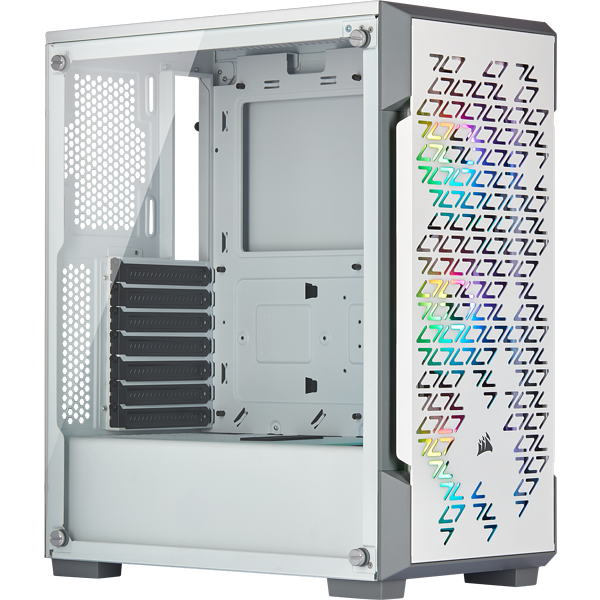 iCUE 220T RGB Airflow Tempered Glass Mid-Tower Smart Case — White