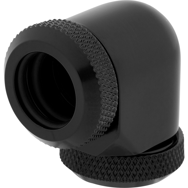 Hydro X Series XF Hardline 90° 12mm OD Fitting Twin Pack — Black