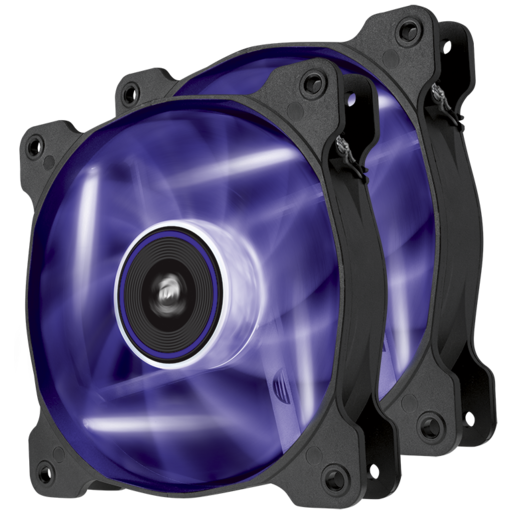 Air Series™ SP120 LED Purple High Static Pressure 120mm Fan Twin Pack
