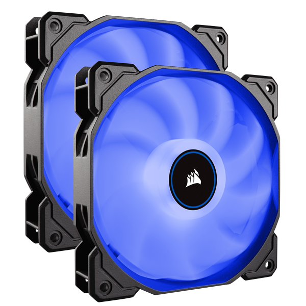 Ventilateur LED AF140 (2018) Air Series bleu 140 mm, lot de deux