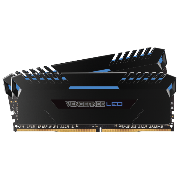 VENGEANCE® LED 32GB (2 x 16GB) DDR4 DRAM 3000MHz C16 Memory Kit - Blue LED