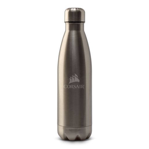 CORSAIR Thermistor Bottle - Chromed Silver
