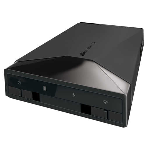 Voyager Air™ Mobile Wireless Storage with Ethernet 1 TB Black — EU Plug