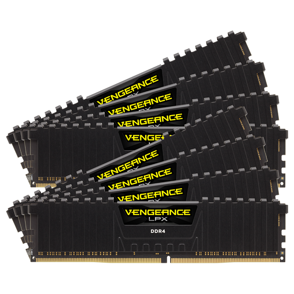 VENGEANCE® LPX 64GB (8 x 8GB) DDR4 DRAM 4266MHz C19 Memory Kit - Black