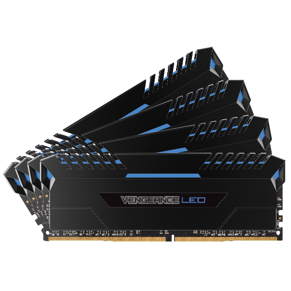 VENGEANCE® LED 32GB (4 x 8GB) DDR4 DRAM 3000MHz C16 Memory Kit - Blue LED