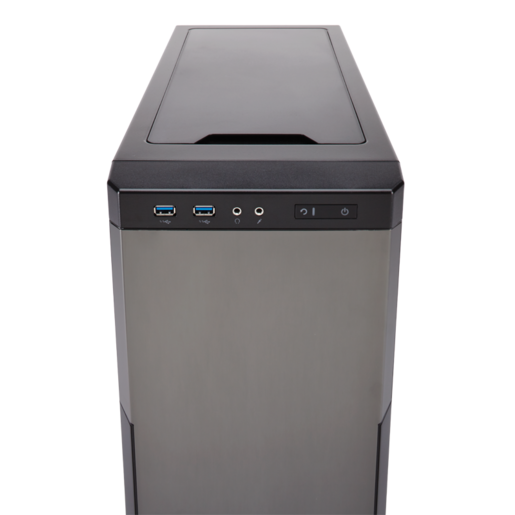 Gabinete mid-tower silencioso Carbide Series™ 330R Titanium Edition