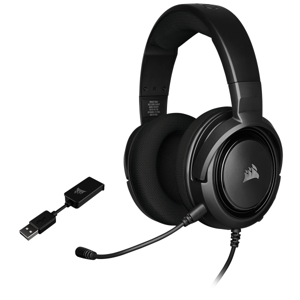 HS45 SURROUND Gaming Headset — Carbon (AP)