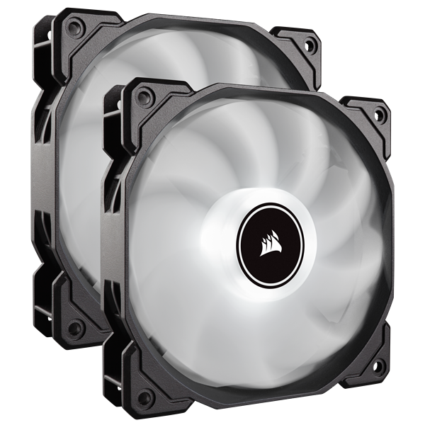 Air Series™ AF140 LED (2018) White 140mm Fan Dual Pack