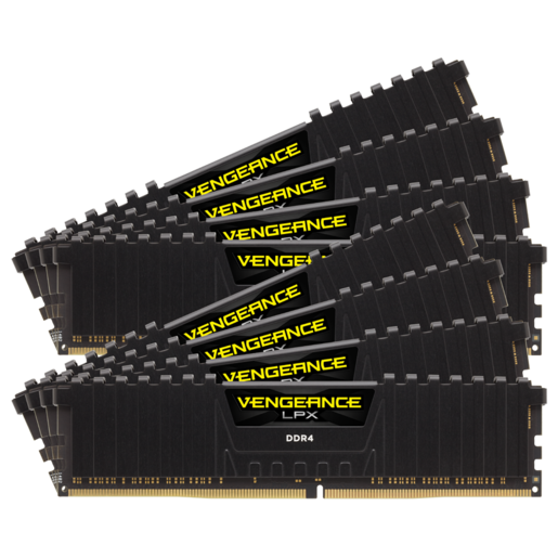 VENGEANCE® LPX 128GB (8 x 16GB) DDR4 DRAM 3000MHz C16 Memory Kit - Black
