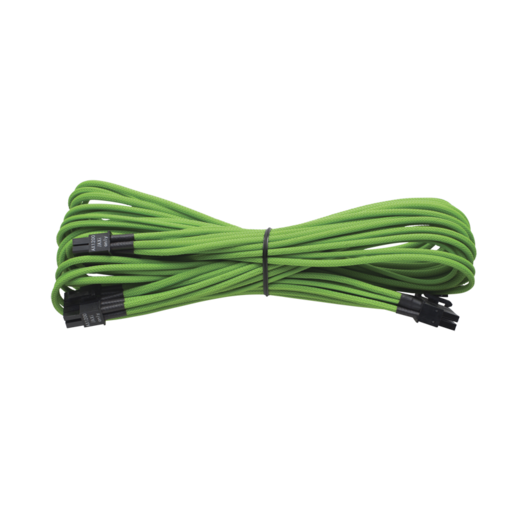 Individually Sleeved 24pin ATX Cable Type 3 (Generation 2), GREEN