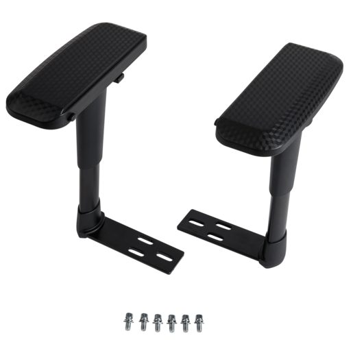 T1 RACE 4D Armrests, Black