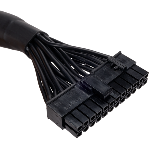 Type 4 Sleeved black 24pin ATX Cable, compatible with all CORSAIR type 4 pin out PSU