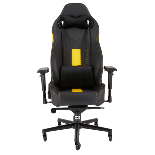 CORSAIR T2 ROAD WARRIOR Gaming Chair — Black/Yellow