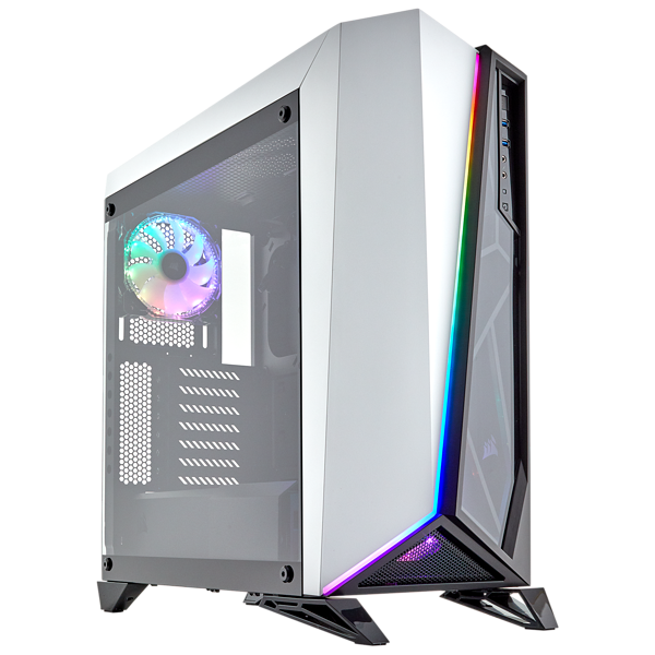 Carbide Series SPEC-OMEGA RGB Mid-Tower Tempered Glass Gaming Case — White