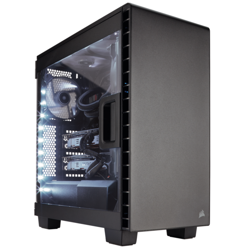 Carbide Series™ Clear 400C Compact Mid-Tower Case