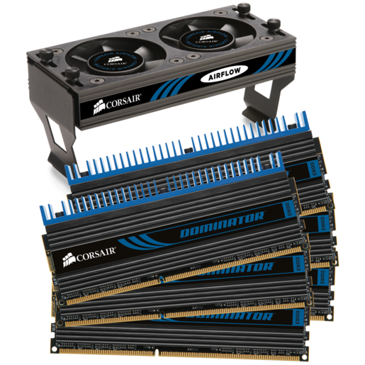 DOMINATOR® with DHX Pro Connector and Airflow II Fan — 24GB Triple Channel DDR3 Memory Kit