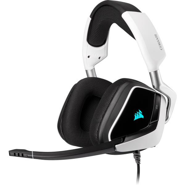 Headset gamer premium com som surround 7.1 VOID RGB ELITE USB, Branco