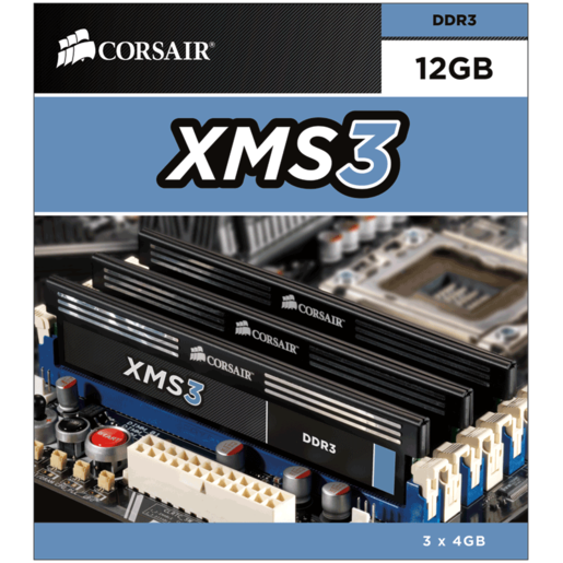 XMS3 — 12GB Triple Channel 1.5V DDR3 Memory Kit