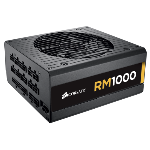 RM Series™ RM1000 — 1000 Watt 80 PLUS® Gold Certified Fully Modular PSU (EU Plug)