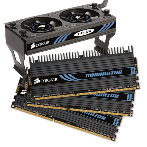 DOMINATOR® with DHX Pro Connector and Airflow II Fan — 12GB Triple Channel DDR3 Memory Kit