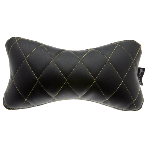 T1 RACE Head/Neck Cushion, Black with Yellow Stitching
