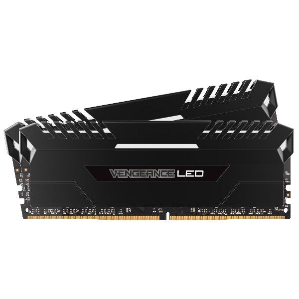 VENGEANCE® LED 32GB (2 x 16GB) DDR4 DRAM 3600MHz C18 Memory Kit – White LED