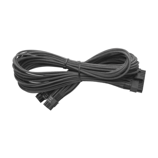 Individually Sleeved 24pin ATX Cable Type 3 (Generation 2), METALLIC GRAPHITE
