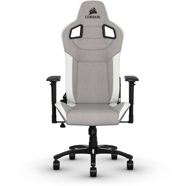 T3 RUSH Gaming Chair — Gray/White