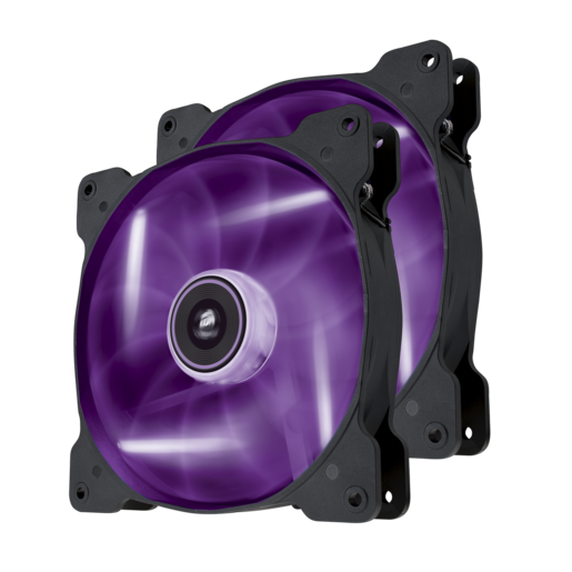 Air Series™ SP140 LED Purple High Static Pressure 140mm Fan Twin Pack