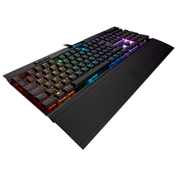K70 RGB MK.2 Low Profile Mechanical Gaming Keyboard — CHERRY® MX Low Profile Red (UK)