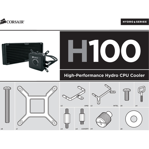 Hydro Series™ H60/H80/H100 Universal Bracket kit