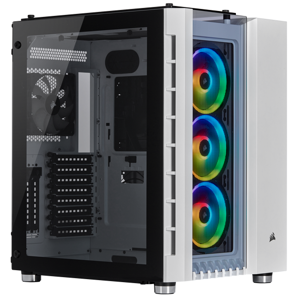 Chasis Crystal Series 680X RGB High Airflow Tempered Glass ATX Smart, White