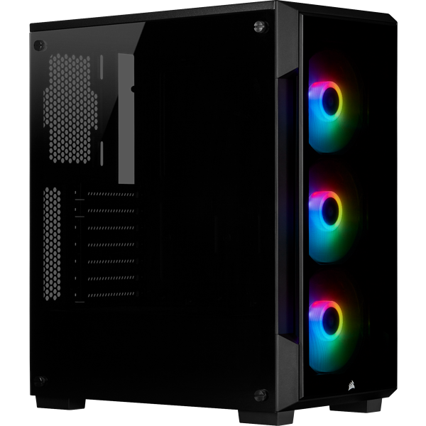 iCUE 220T RGB Tempered Glass Mid-Tower Smart Case — Black