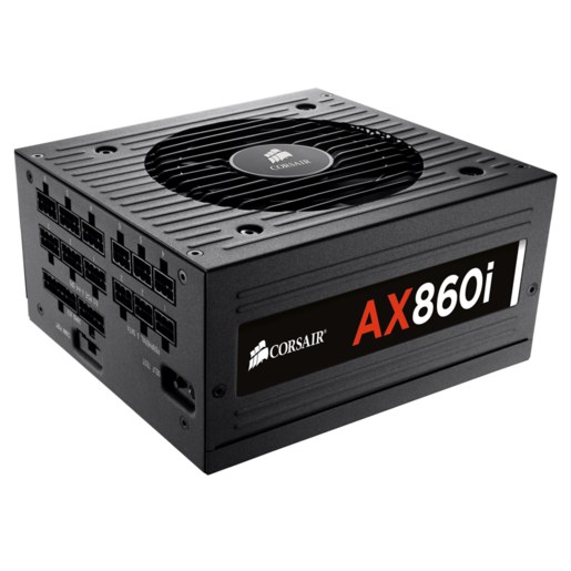 AX860i Digital ATX Power Supply — 860 Watt 80 PLUS® PLATINUM Certified Fully-Modular PSU (EU Plug)