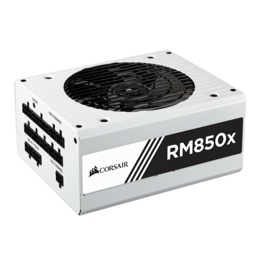 RMx White Series™ RM850x — 850 Watt 80 PLUS® Gold Certified Fully Modular PSU