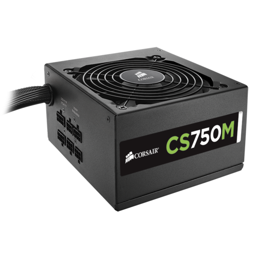 CS Series™ Modular CS750M — 750 Watt 80 PLUS® Gold Certified PSU