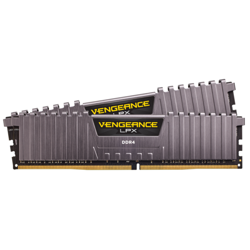VENGEANCE® LPX 16GB (2 x 8GB) DDR4 DRAM 3200MHz C16 Memory Kit – Cool Gray
