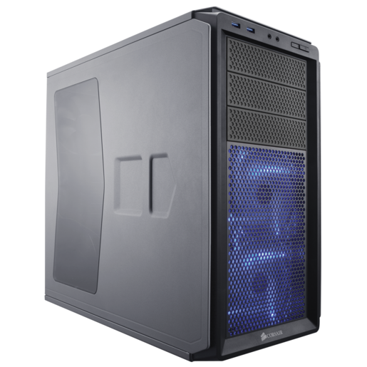 Graphite Series™ 230T Windowed Compact Mid Tower Case — Battleship Grey