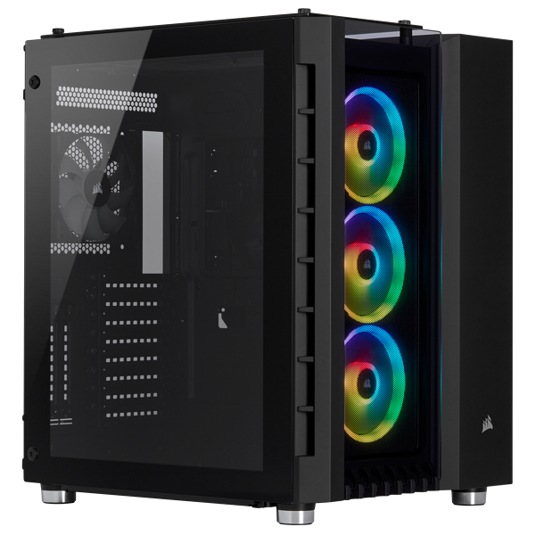 Chasis Crystal Series 680X RGB High Airflow Tempered Glass ATX Smart, Black
