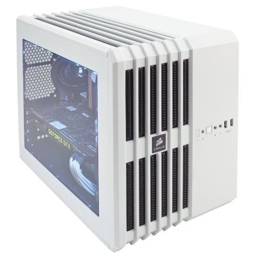 Carbide Series™ Air 240 Arctic White High Airflow MicroATX and Mini-ITX PC Case