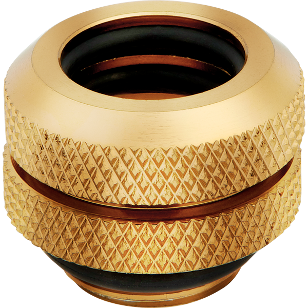 Hydro X Series XF Hardline 12mm OD Fitting Four Pack — Gold