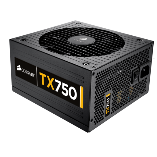 TX Series™ TX750 — 80 PLUS® Bronze Certified 750 Watt High Performance Power Supply