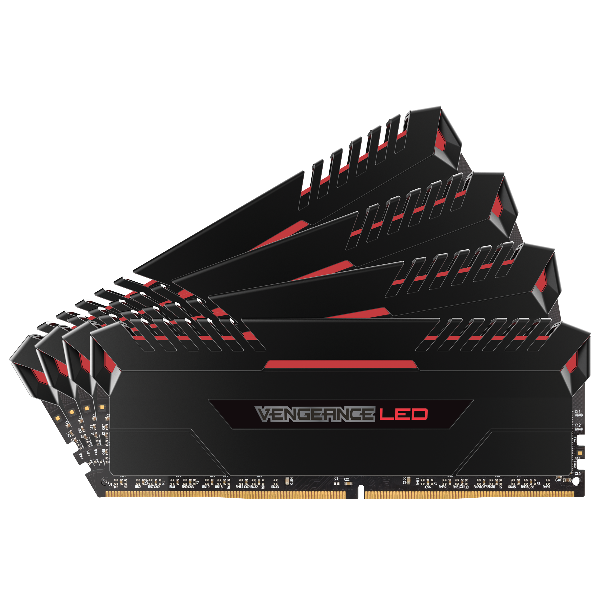 VENGEANCE® LED 32GB (4 x 8GB) DDR4 DRAM 3000MHz C16 Memory Kit - Red LED