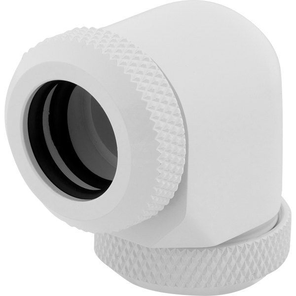 Hydro X Series XF Hardline 90° 12mm OD Fitting Twin Pack — White