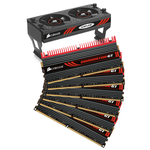 DOMINATOR® GT with DHX Pro Connector and Airflow II Fan — 12GB Triple Channel DDR3 Memory Kit
