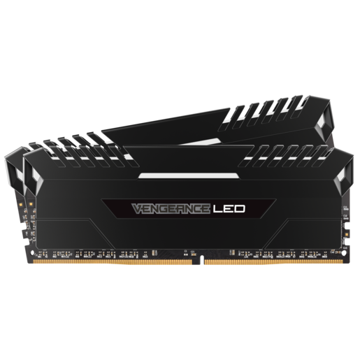 VENGEANCE® LED 32GB (2 x 16GB) DDR4 DRAM 3000MHz C15 Memory Kit - White LED