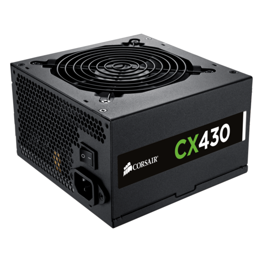 CX430 — 80 PLUS® Bronze Certified Power Supply (EU Plug)