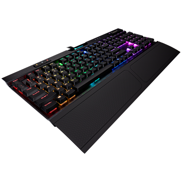 K70 RGB MK.2 Low Profile Mechanical Gaming Keyboard — CHERRY® MX Low Profile Red (EU)