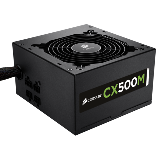 CX Series™ Modular CX500M ATX Power Supply — 500 Watt 80 PLUS® Bronze Certified Modular PSU (EU Plug)