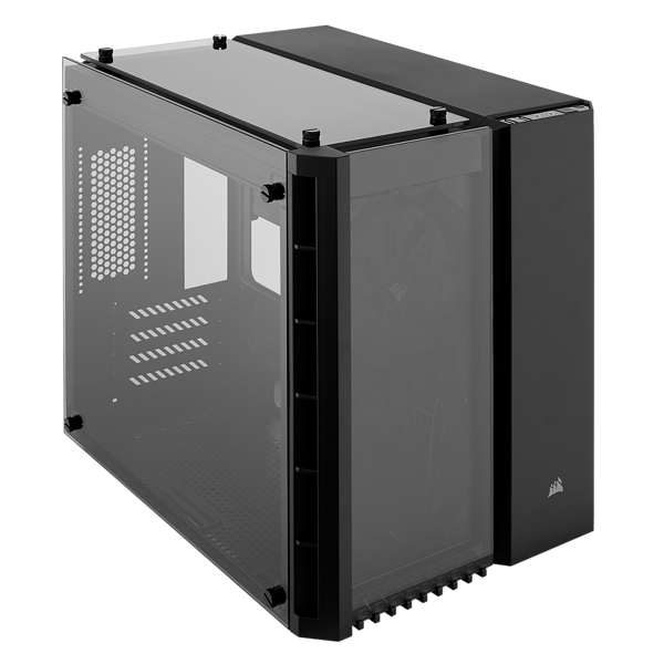 Crystal Series 280X Tempered Glass Micro ATX PC Case — Black
